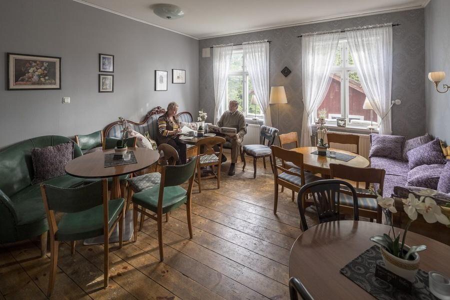 Klassiskt kafferum på kaféet. Foto: LRF Konsult.