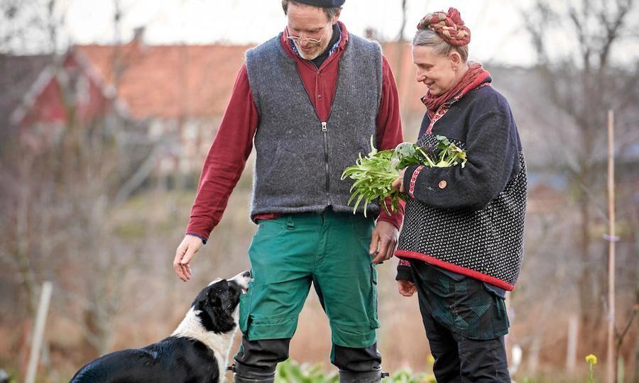Mandelmanns med hunden Saffran. Foto: Stefan Lindblom.