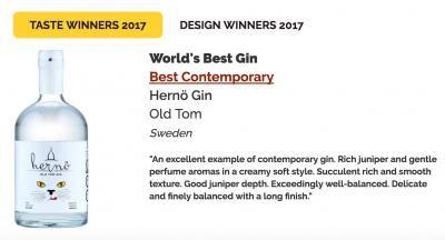 Hernö gin är bäst i världen.
