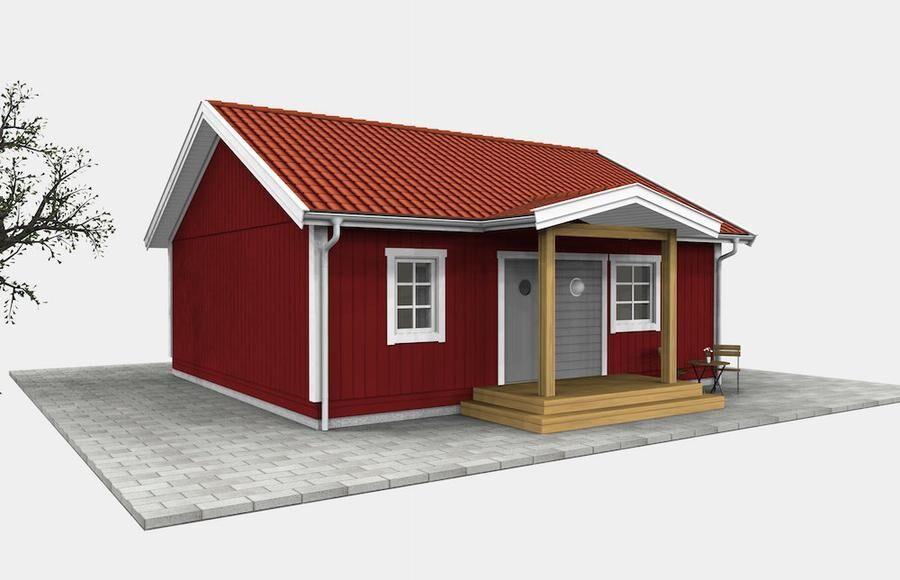 Smart kvadratiskt hus. Foto: Ljusnehus.