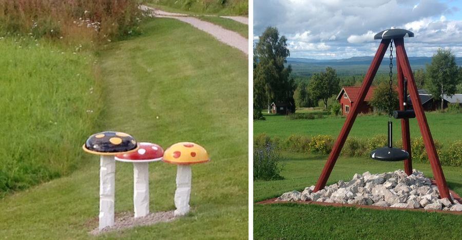 Leifs svampar och klocktorn i Mickelvål.