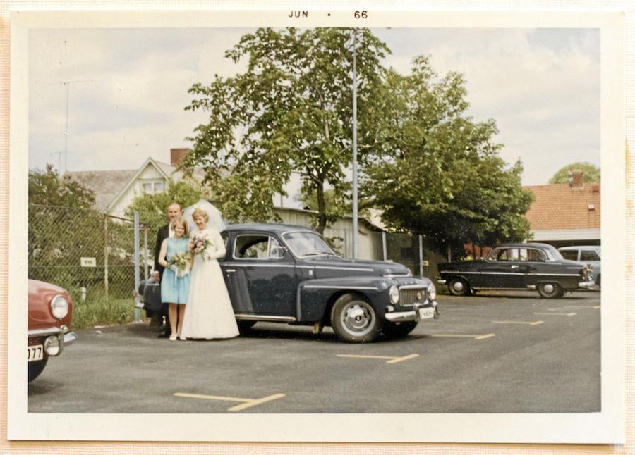 Foto ur albumet på bröllopsresan som gjordes i PV:n förstås. Foto: Anders Andersson