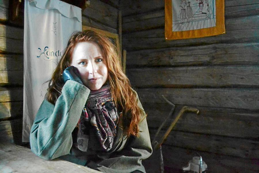 Här i bagarstugan hemma på gården skrev Stina Stoor den första novellen som hon prisades för.