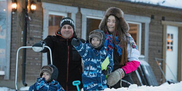Familjen Svedjekrans byggde sitt drömhus i norrbottniska Jämtön