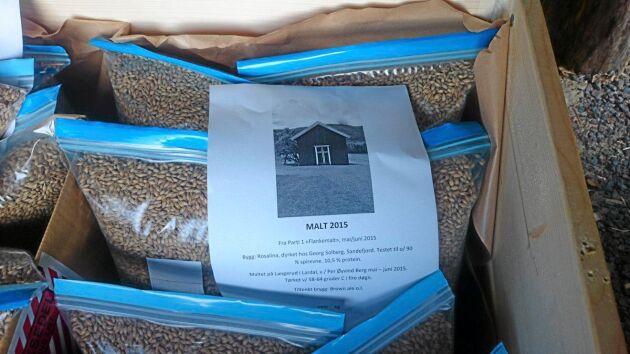 När rötter och groddspetsar rensats bort är malten färdig. Ett ton maltkorn ger omkring 800 kilo malt.