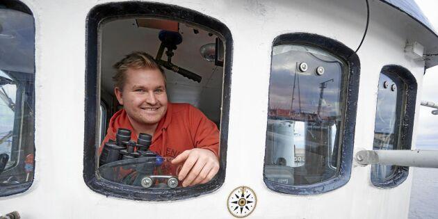 Yrkesfiskaren André har bara varit rädd en gång på sjön!