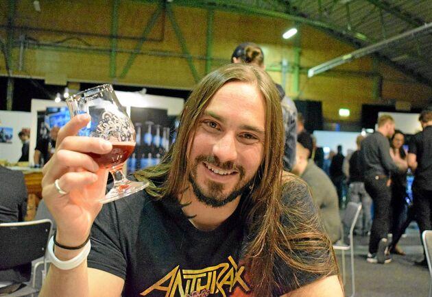 Dave Orman , öl-sommelier i Umeå har utbildat sig i London till att vara beer sommelier.