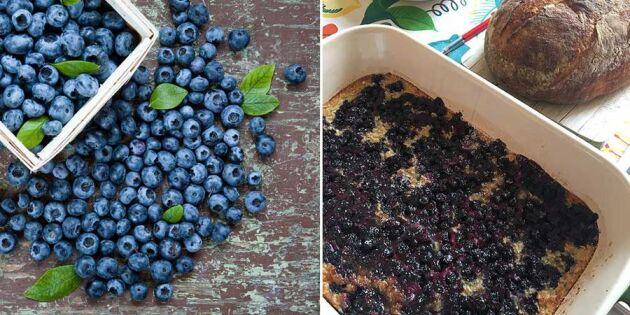 Bakad blåbärsgröt - gott och nyttigt!