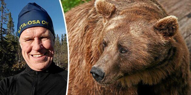 """Orienteraren Thomas attackerad av björnmamma: """"Jag röt till och sprang"""""""
