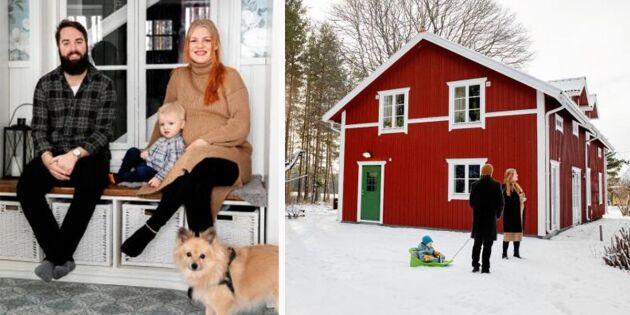 Madelene och Hampus gamla torp i uppländska Arnebo fick nytt liv!