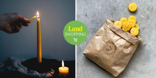 Mysig stämning hemma med Dianas handstöpta bivaxljus – ett hållbart val