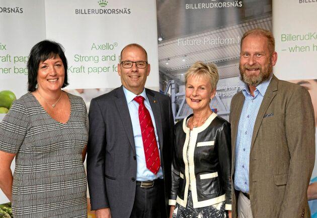 Invigningen hölls av Billerud Korsnäs VD Petra Einarsson, tillträdande landshövdingen i Östergötland, Carl Fredrik Graf, avgående landshövdingen, Elisabeth Nilsson, och fabrikschefen i Skärblacka, Håkan Krantz.