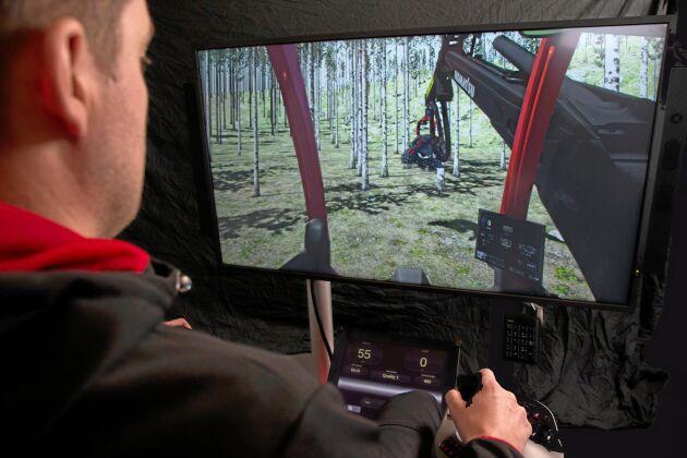 Komatsu Forests skogsmaskinsimulator.