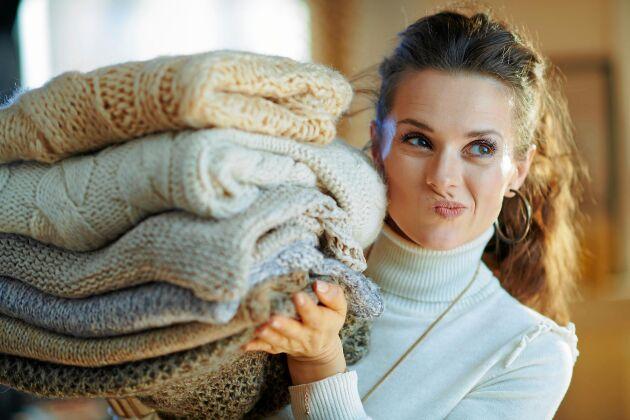 Fel skötsel förkortar livslängden på dina kläder.