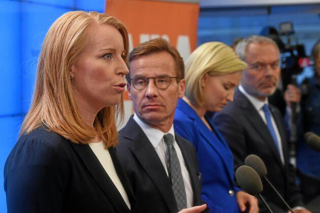 Annie Lööf får och kommer att få kritik, det är debattörerna överrens om.
