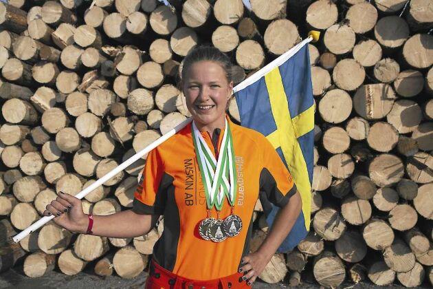 Linn Arvidsson kammade hem förstapris i både fällning och markkap.