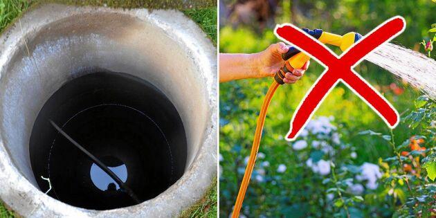 Grundvattennivåerna sjunker – här är det värst just nu
