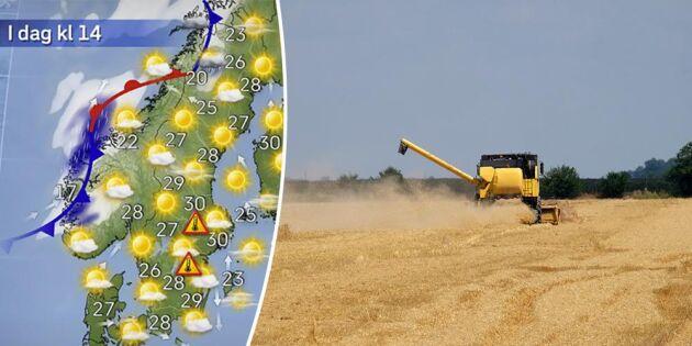 SMHI spår ännu varmare väder och regn - men bara lokalt