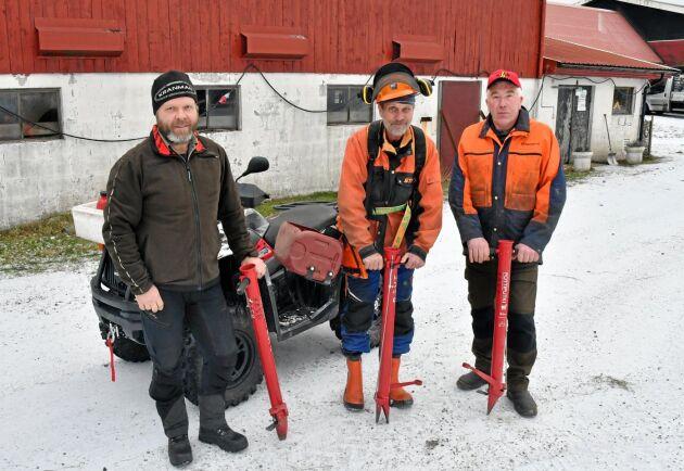 Patrik Älgemon, Ola Lindström och Frank Andersson i Bullarens skogsvårdsförening, som är den största sammanslutningen inom de gröna näringarna i trakten.