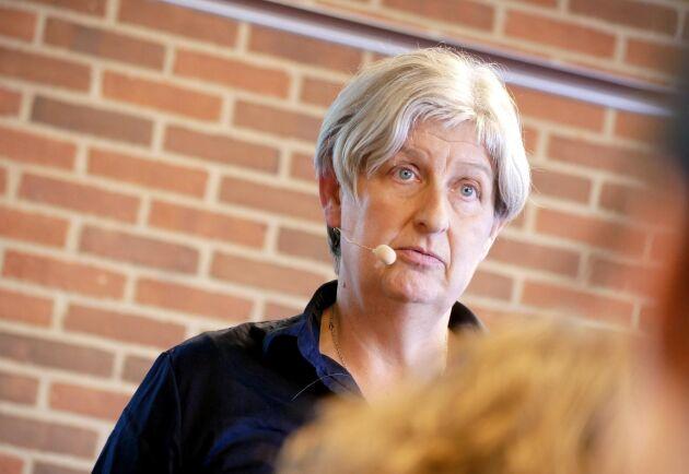Dorthe Poulsgård berättade om projektet i ett föredrag tillsammans med deltagande grisproducenter på svinkongressen i Herning.