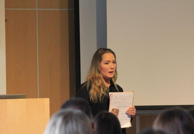 Johanna Due Boje berättade om hur hon startat sitt eget hästföretag och gav deltagarna tips.