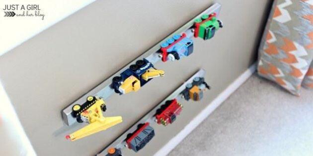 Använd Grundtal knivlist för att organisera leksaker