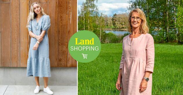 Lisa Söderblom syr kläder som hon älskar att bära själv. Klänningarna Fanny och Linnea är populära modeller på landshopping.se.