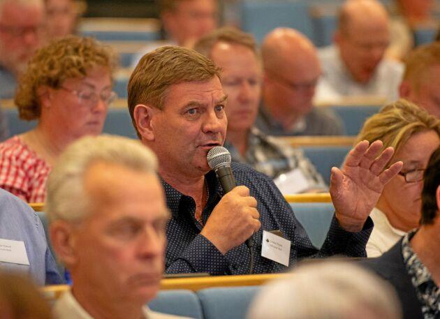 Mjölkproduktionen i Sverige har minskat sedan livsmedelsstrategin antogs 2017, påpekade Lennart Bogren, Falköping Mejeri, under stämmodebatten.