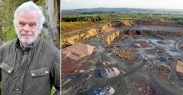 Utanför Dalby bryts stora mängder sten till anläggningsarbeten. Företaget Scandivanadium har fått undersökningstillstånd av Bergstaten för att leta efter främst vanadin i sydöstra Skåne. Jordbrukaren Carl Piper är kritisk till utvinningen av vanadin.