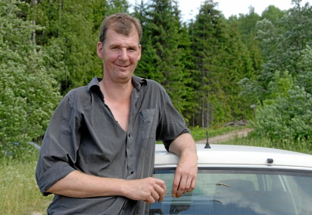 Mattias Eriksson äger skog i Lettland.