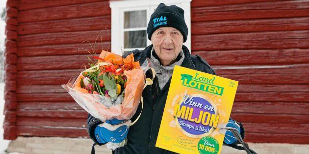 Björn vann 1 miljon kronor på Landlotten!
