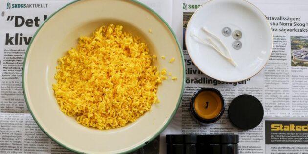 Så gjuter du egna bivaxljus – med doft av honung