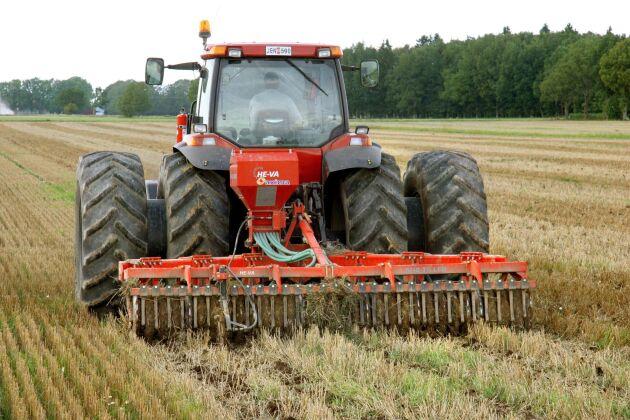 Höstvete är om vanligt en stor del av höstsådden och i år såddes 410200 hektar.