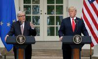 """""""Överraskande positivt"""" när Trump mötte Juncker"""