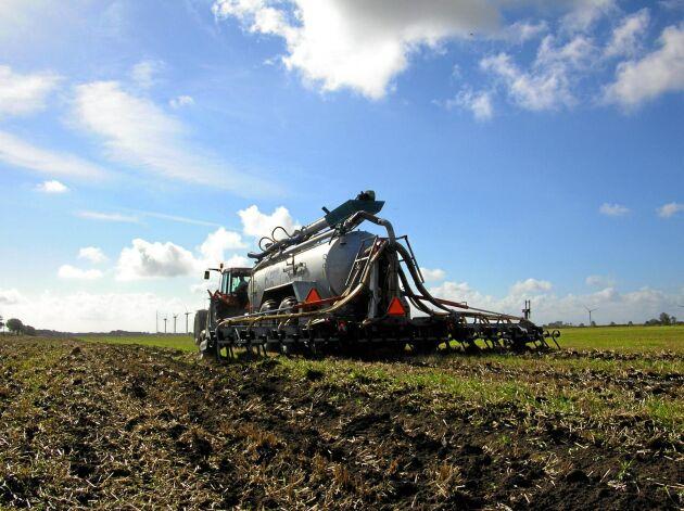 Effektivisering av gödselspridning är en åtgärd som kan ge bidrag från Klimatklivet.