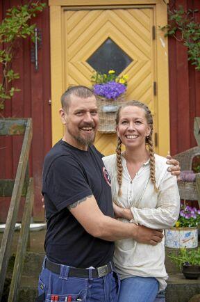 Marcus och Sara blev blixtkära direkt när de träffades - och Sara blev även kär i Marcus hus.