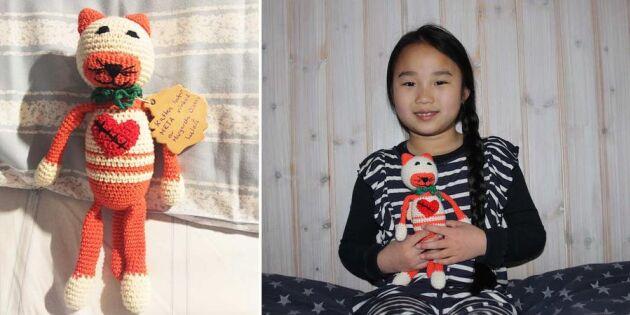 Därför virkar hela Sverige till hjärtsjuka barn