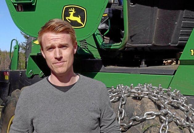 Patrik Vidigsson, säljare på John Deere.