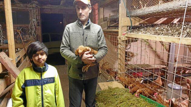 Jan-Olov Johansson driver småskalig äggproduktion i familjeföretaget Oskis ägg i Värnamo.