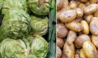 Priset på grönsaker och potatis sjunker