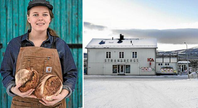 Butiksbageri. Maja Olsson startade surdegsbageri i källaren på Ica i Undersåker.