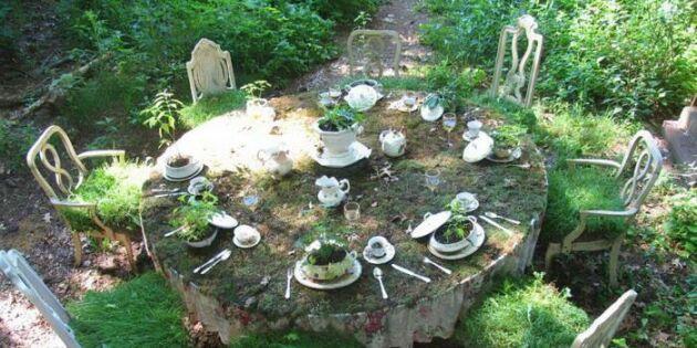 Duka bordet med ogräs