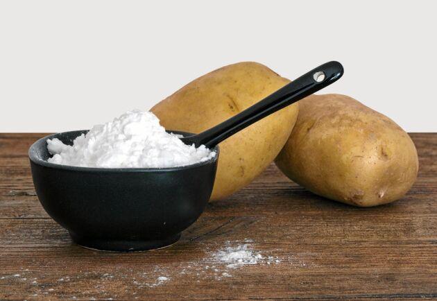 Mjöl på köpet av potatisen.