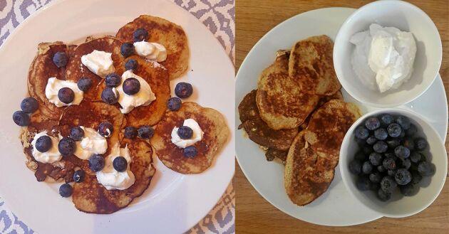 Lyxa till frukosten eller mellanmålet med nyttiga bananpannkakor.