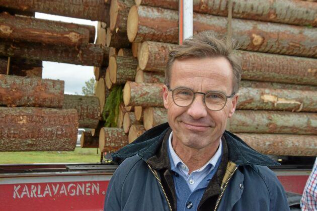 Moderatledaren Ulf Kristersson konstaterade att man förstår hur stora skadorna är när man flyger över dem.