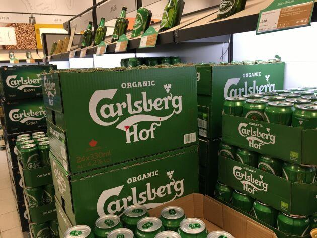 Carlsberg Hof är en av storsäljarna som ligger bakom Systembolagets stora lyft i ekoölförsäljningen.