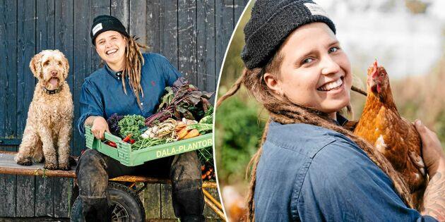 Vilken dröm! Angelika,30, blev bonde mot alla odds