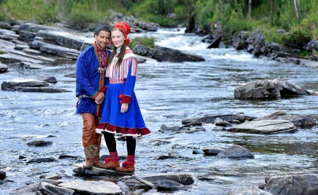 Jon Henrik Fjällgren och hans norska sambo Maret Nystad vurmar för det samiska kulturarvet.