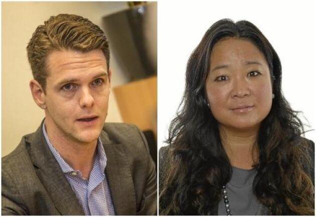 Christofer Fjellner (M) och Jessica Polfjärd (M) kandiderar båda i EU-valet.