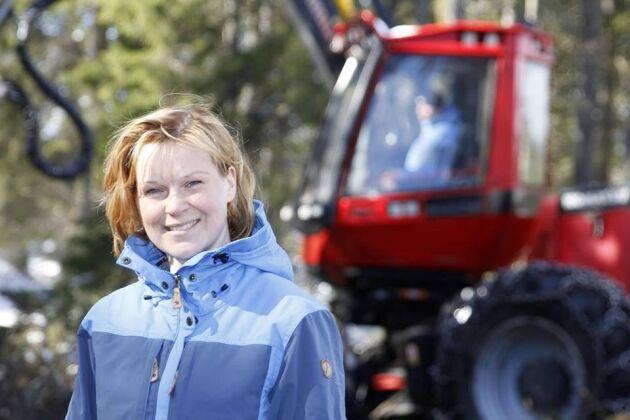 Ida Oderstål, skogsägare och skogsentreprenör.